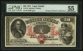 Large Size:Legal Tender Notes, Fr. 152 $50 1874 Legal Tender PMG About Uncirculated 55.. ...