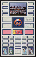 Baseball Collectibles:Others, 1969 New York Mets Team Signed Cut Signatures Display - WorldChampionship Season!...