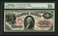 Large Size:Legal Tender Notes, Fr. 25 $1 1875 Legal Tender PMG Choice Very Fine 35.. ...
