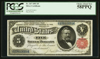Fr. 267 $5 1891 Silver Certificate PCGS Choice About New 58PPQ