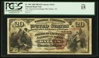 Dallas, TX - $20 1882 Brown Back Fr. 505 The American Exchange NB Ch. # (S)3623