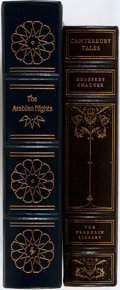 Books:Literature Pre-1900, [Geoffrey Chaucer]. Two Classic Works of Literature including:The Arabian Nights Entertainments. The Easton Press, ...(Total: 2 Items)