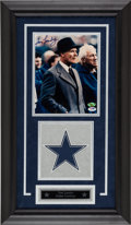 Football Collectibles:Photos, Tom Landry Signed Photograph Display....
