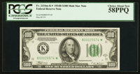 Fr. 2154-K* $100 1934B Federal Reserve Note. PCGS Choice About New 58PPQ