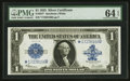 Large Size:Silver Certificates, Fr. 237* $1 1923 Silver Certificate PMG Choice Uncirculated 64 EPQ.. ...