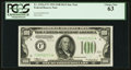 Fr. 2152-F* $100 1934 Federal Reserve Note. PCGS Choice New 63