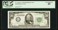 Fr. 2102-L* $50 1934 Federal Reserve Note. PCGS Extremely Fine 45