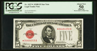 Fr. 1527* $5 1928B Legal Tender Note. PCGS Apparent About New 50