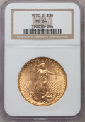 Saint-Gaudens Double Eagles: , 1910-D $20 MS64 NGC. NGC Census: (1748/481). PCGS Population(1963/1106). Mintage: 429,000. Numismedia Wsl. Price for probl...