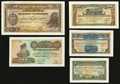 World Currency: , Syria 5 Piastres 1.8.1919 Specimen Pick 1as. 25 Piastres 1.8.1919Specimen Pick 2s. 50 Piastres 1.8.1919 Specimen Pick 3s. 1...(Total: 5 notes)