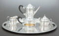 Silver Holloware, American:Other , A SIX PIECE GORHAM SILVER AND SILVER GILT TEA AND COFFEE SERVICE.Gorham Manufacturing Co., Providence, Rhode Island, design...(Total: 6 Items)