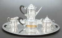 A SIX PIECE GORHAM SILVER AND SILVER GILT TEA AND COFFEE SERVICE Gorham Manufacturing Co., Providence, Rhode Islan
