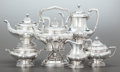 Silver Holloware, American:Other , A SIX PIECE GORHAM SILVER TEA AND COFFEE SERVICE . GorhamManufacturing Co., Providence, Rhode Island, circa 1900. Marks:(l... (Total: 6 Items)