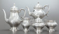 Silver Holloware, American:Other , A FIVE PIECE REED & BARTON DEVONSHIRE PATTERN SILVER ANDSILVER GILT TEA AND COFFEE SERVICE . Reed & Barton, Tau...(Total: 5 Items)