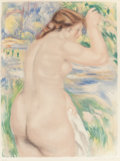 Fine Art - Work on Paper:Print, JACQUES VILLON (French, 1875-1963) after PIERRE-AUGUSTE RENOIR(French, 1841-1919). Bather, 1923. Color aquatint. 23 x 1...