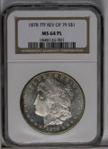Morgan Dollars: , 1878 7TF $1 Reverse of 1879 MS64 Prooflike NGC. Fully prooflike andnearly a Deep Prooflike e...