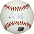 "Autographs:Baseballs, Bob Feller Single Signed Baseball. Playing his entire career withthe Cleveland Indians, ""Rapid Robert"" Feller added his si..."
