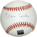 Autographs:Baseballs, Warren Spahn Single Signed Baseball. Member of baseball's Hall ofFame, the Sporting News Pitcher of the Year four times ad...