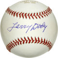 Autographs:Baseballs, Larry Doby Single Signed Baseball. Starting his professional careerin the Negro Leagues, Doby was the first black player i...