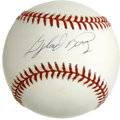 Autographs:Baseballs, Gaylord Perry Single Signed Baseball. A five time All-Star andmember of the Hall of Fame, Perry was notorious for doctorin...