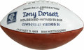 Autographs:Footballs, Tony Dorsett Dallas Cowboys Presentation Football. Duplicate copyof the presentation game football given to Tony Dorsett f...