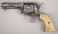 "Western Expansion:Cowboy, COLT SINGLE ACTION ARMY REVOLVER - Serial number 19753, circa 1875. 3 ¾"" barrel in .45 calibre. All markings on revolver are... (Total: 1 Item)"