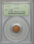 California Fractional Gold, 1870 $1 Goofy Head Round 1 Dollar, BG-1205, High R.4, AU50 PCGS....
