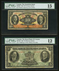 Canadian Currency: , Toronto, ON- The Dominion Bank $10 Jan. 2, 1935 Ch. # 220-26-04.Montreal, PQ- The Royal Bank of Canada $5 Jan. 3, 1927 ... (Total:2 notes)