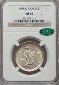 Commemorative Silver: , 1938-D 50C Texas MS66 NGC. CAC. NGC Census: (303/97). PCGSPopulation (278/83). Mintage: 3,775. Numismedia Wsl. Price for p...