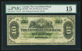 Canadian Currency: , Montreal, PQ- The Consolidated Bank of Canada $10 Jul. 1, 1876 Ch.# 205-10-06. ...