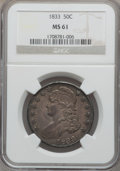 Bust Half Dollars: , 1833 50C MS61 NGC. NGC Census: (54/303). PCGS Population (13/280).Mintage: 5,206,000. Numismedia Wsl. Price for problem fr...