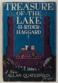 Books:Science Fiction & Fantasy, H. Rider Haggard. Treasure of the Lake. Doubleday, Page & Company, 1936. First edition. Publisher's original lig...