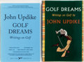 Books:Sporting Books, John Updike. Review Copy and Uncorrected Proof of GolfDreams. New York: Knopf, 1996. First edition. Publisher'srev... (Total: 2 Items)