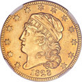 Early Half Eagles, . 1828 $5 -- Repaired -- NGC Details. AU. BD-4, High R.6....