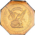 Territorial Gold, 1852 $50 Assay Office Fifty Dollar, 900 Thous. AU55 PCGS. K-14, High R.5....