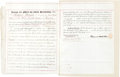 Autographs:Authors, Herman Melville Letter of Attorney Signed...