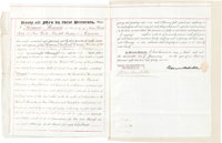 Herman Melville Letter of Attorney Signed