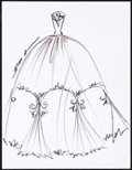 Movie/TV Memorabilia:Autographs and Signed Items, Reem Acra: Fashion Designer's Doodle for Hunger. Benefiting St. Francis Food Pantries and Shelters. ...