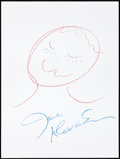 Movie/TV Memorabilia:Autographs and Signed Items, Jane Alexander: Actor's Doodle for Hunger. Benefiting St.Francis Food Pantries and Shelters. ...