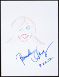 Movie/TV Memorabilia:Autographs and Signed Items, Brenda Strong: Actor's Doodle for Hunger. Benefiting St.Francis Food Pantries and Shelters. ...