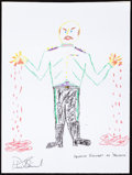 Movie/TV Memorabilia:Autographs and Signed Items, Patrick Stewart: Actor's Doodle for Hunger. Benefiting St.Francis Food Pantries and Shelters. ...