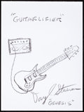 Music Memorabilia:Autographs and Signed Items, Daryl Stuermer: Musician's Doodle for Hunger. Benefiting St.Francis Food Pantries and Shelters. ...