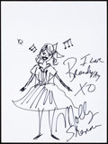 Movie/TV Memorabilia:Autographs and Signed Items, Molly Shannon: Actor's Doodle for Hunger. Benefiting St. Francis Food Pantries and Shelters. ...