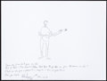 Music Memorabilia:Autographs and Signed Items, Pete Seeger: Musician's Doodle for Hunger. Benefiting St.Francis Food Pantries and Shelters. ...