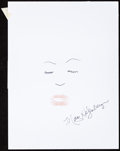 Movie/TV Memorabilia:Autographs and Signed Items, Marg Helgenberger: Actor's Doodle for Hunger. Benefiting St.Francis Food Pantries and Shelters. ...