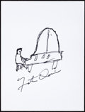 Music Memorabilia:Autographs and Signed Items, Fats Domino: Singer's Doodle for Hunger. Benefiting St. Francis Food Pantries and Shelters. ...
