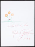 Movie/TV Memorabilia:Autographs and Signed Items, Melissa Gilbert: Actor's Doodle for Hunger. Benefiting St.Francis Food Pantries and Shelters. ...