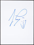 Movie/TV Memorabilia:Autographs and Signed Items, Jay Leno: Comedian & TV Host's Doodle for Hunger. Benefiting St. Francis Food Pantries and Shelters. ...