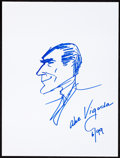 Movie/TV Memorabilia:Autographs and Signed Items, Abe Vigoda: Actor's Doodle for Hunger. Benefiting St.Francis Food Pantries and Shelters. ...