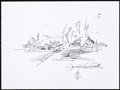 Movie/TV Memorabilia:Autographs and Signed Items, Daniel Libeskind: Architect's Doodle for Hunger. Benefiting St. Francis Food Pantries and Shelters. ...